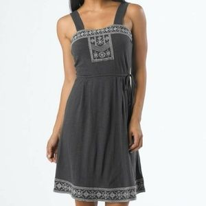 "NWT Prana Boho ""Indie Dress"" Coal Gray midi dress"